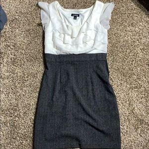 A. Byer grey and white business dress